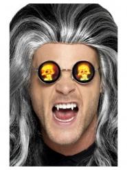 Holografische doodskoppen bril voor volwassenen