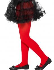 Rode ondoorzichtige panty voor kinderen