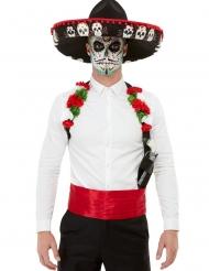 Dia de los Muertos accessoires en hoed set voor volwassenen