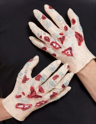 2 latex zombie handen voor volwassenen