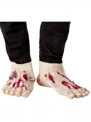 2 latex zombie overschoenen voor volwassenen