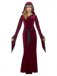 Rood middeleeuws vampier kostuum voor vrouwen