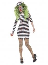 Bloederig zombie gevangene kostuum voor vrouwen