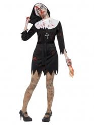 Zwart zombie non kostuum voor vrouwen