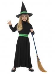 Kleine groene heks outfit voor meisjes