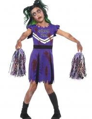 Paarse zombie cheerleader outfit voor meisjes