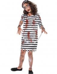 Bloederig zombie gevangene kostuum voor meisjes