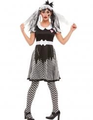 Dambord gebroken pop kostuum voor vrouwen