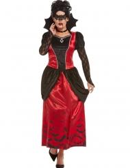 Gemaskerde gothic vampier kostuum voor vrouwen