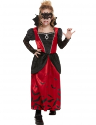Gemaskerde gothic vampier outfit voor meisjes