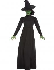 Zwarte klassieke film heks outfit voor vrouwen
