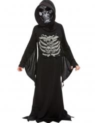 Zwart en grijs skelet reaper kostuum voor kinderen