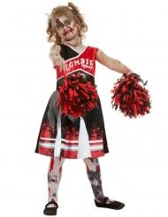 Rood zombie cheerleader kostuum voor meisjes