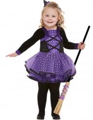 Paarse sterren heks outfit voor meisjes