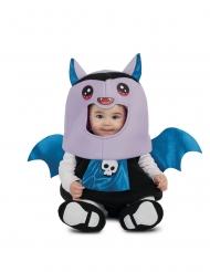 Blauw en paars vleermuis kostuum voor baby