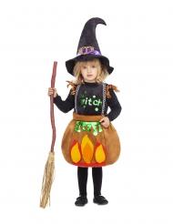 Kleine kookpot heks kostuum voor meisjes
