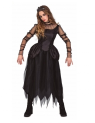 Zwarte gothic lady outfit voor vrouwen