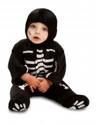 Klein zwart skelet kostuum voor baby
