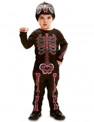 Dia de los Muertos skelet kostuum voor baby