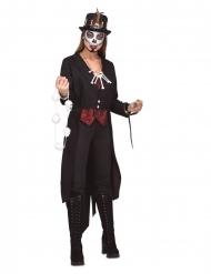 Zwarte voodoo heks outfit voor vrouwen
