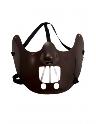 Donkerbruin kannibaal half masker voor volwassenen