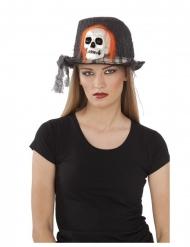 Doodskop voodoo hoed voor volwassenen