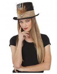 Skelet hand voodoo hoed voor volwassenen