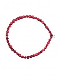 Rode doodskop halsketting voor volwassenen