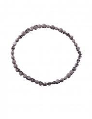 Grijze doodskop halsketting voor volwassenen