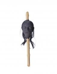 Gekrompen doodskop scepter