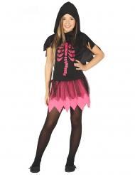 Zwarte en fuchsia skelet jurk outfit voor meisjes