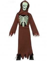 Bruin skelet monnik kostuum voor kinderen