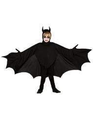 Zwart vleermuis kostuum met vleugels voor kinderen