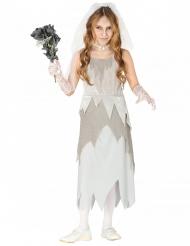 Grijs spook bruid kostuum voor meisjes