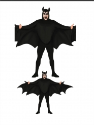 Zwart vleermuis kostuum voor volwassenen