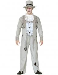 Wit spook bruidegom kostuum voor mannen