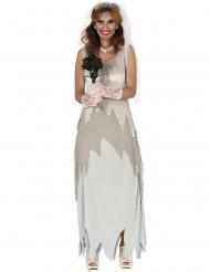 Grijze spook bruid outfit voor vrouwen
