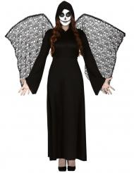 Dodenengel kostuum met vleugels voor vrouwen