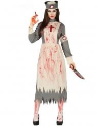 Retro zombie verpleegster kostuum voor vrouwen