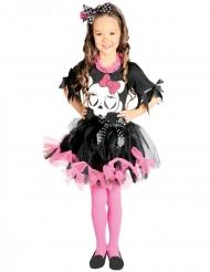 Schattig zwart en roze tutu skelet kostuum voor meisjes