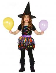 Schattige kleine kleurrijke heks outfit voor meisjes