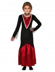 Rood en zwart vampier kostuum voor meisjes