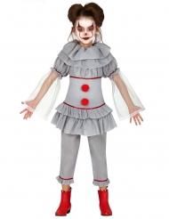 Grijs killer clown pak voor meisjes