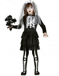 Duistere skelet bruid outfit voor meisjes