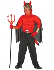 Gespierd duivel kostuum voor jongens