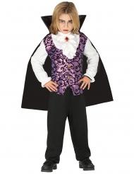 Paars en zwart vampier kostuum voor jongens
