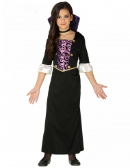 Paars en zwart jonge vampier kostuum voor meisjes