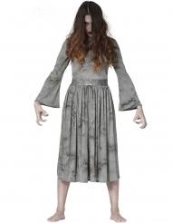 Eng grijsachtig spook kostuum voor vrouwen