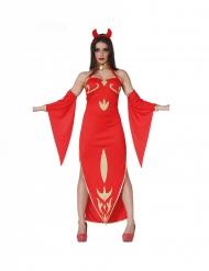 Elegant duivel kostuum voor dames