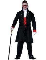 Zwart vampier graaf kostuum voor mannen
